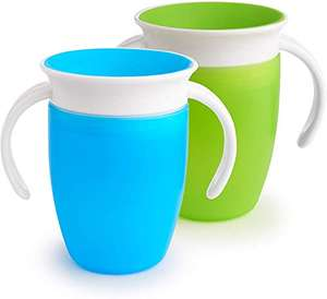 Lot de 2 tasses d'apprentissage Munchkin Miracle 360° - 2 x 20.7 cl, bleu & vert