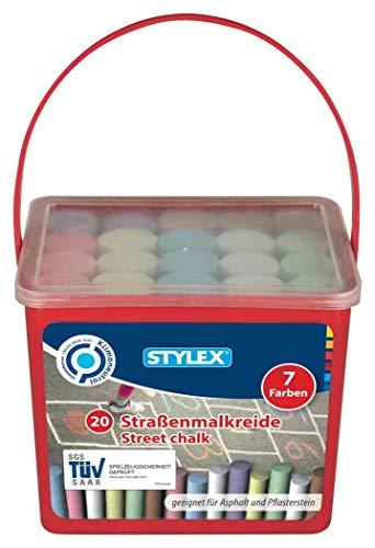 Boite de 20 craies de Trottoir Stylex - Multicolores (48104)