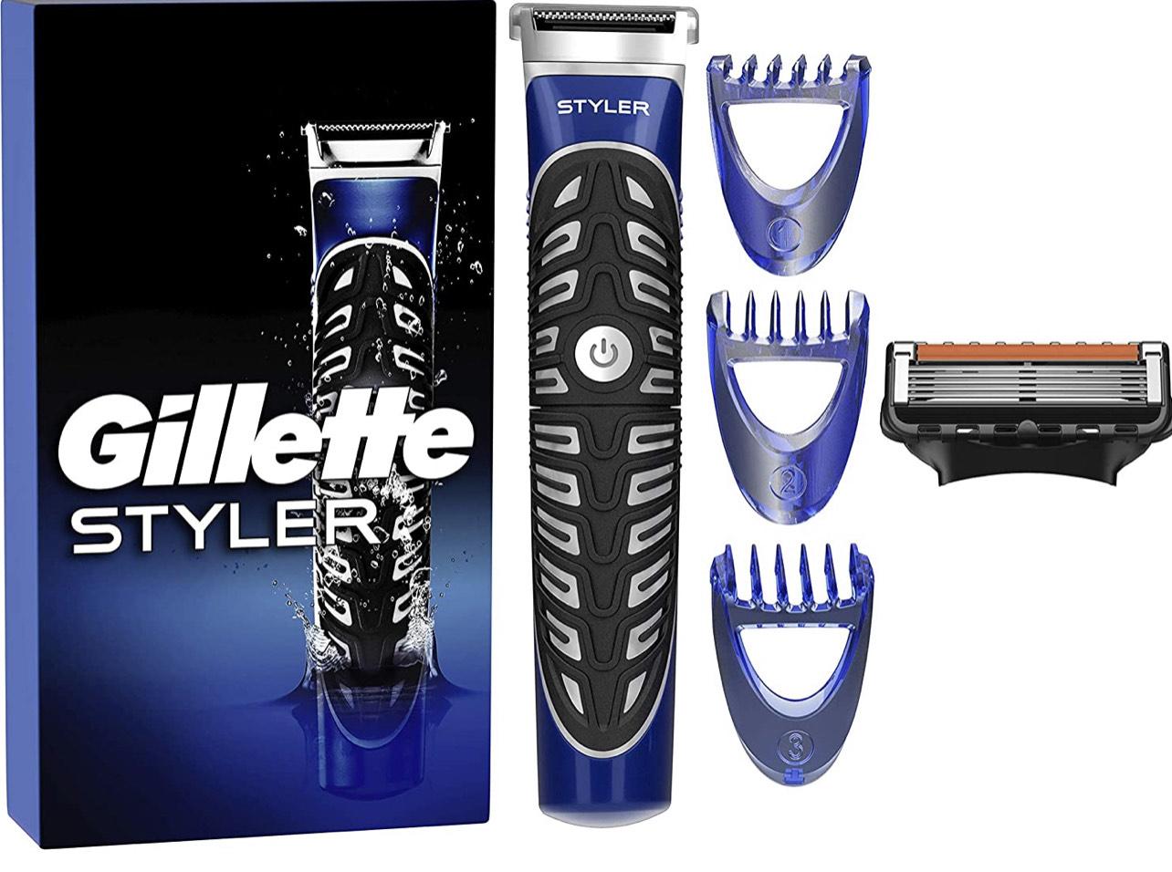 Tondeuse 3en1 Gillette Proglide Styler - 3 Sabots Interchangeables + 1 Lame de Recharge