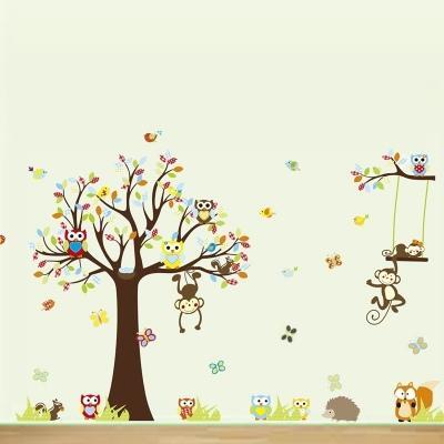 Sélection de stickers en promotion - Ex : Les petits singes jouent sur les arbres (160 x 130 cm)