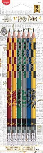 Lot de 6 crayons à papier Graphite Maped Black'Peps Harry Potter