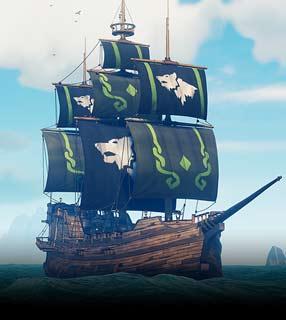 [Amazon Prime Gaming] Pack Voiles Night Wulf sur Sea of Thieves gratuit sur Xbox / PC (Dématérialisé)