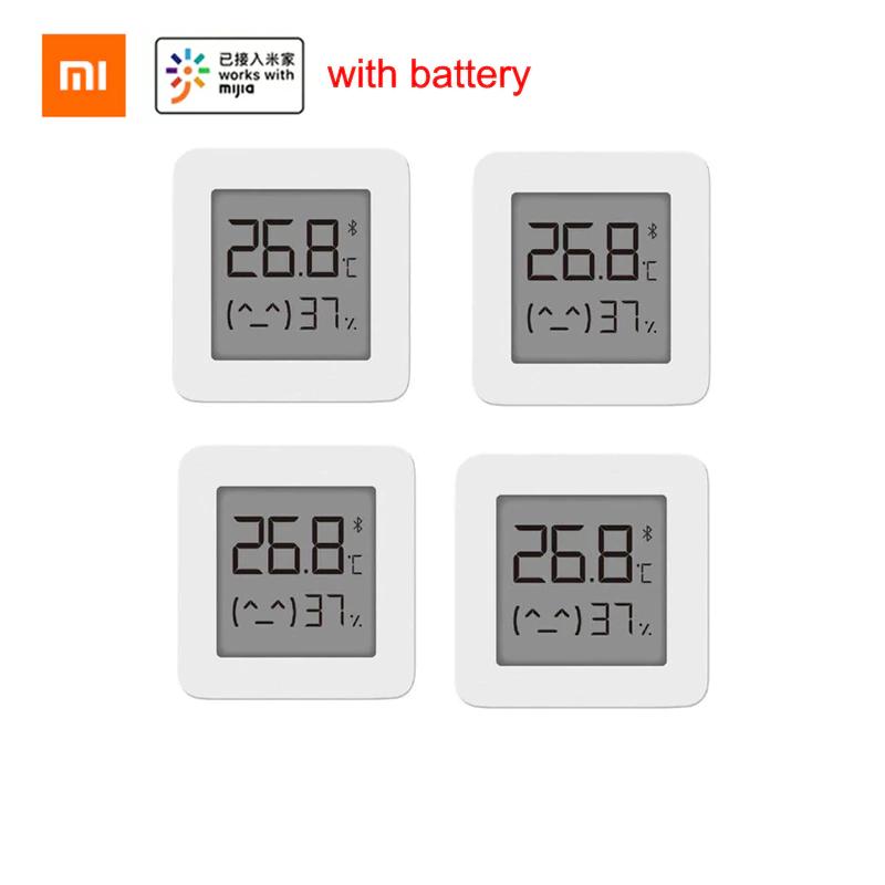 Lot de 4 thermomètres intelligents à affichage numérique Bluetooth Xiaomi Mijia pile fournie