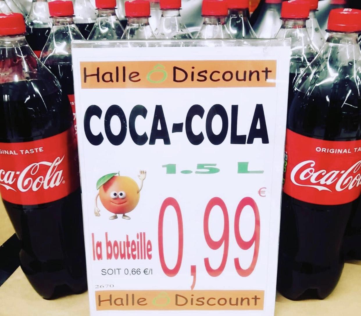 Bouteille de Coca Cola 1,5L - Halle O Discount Lognes (77)
