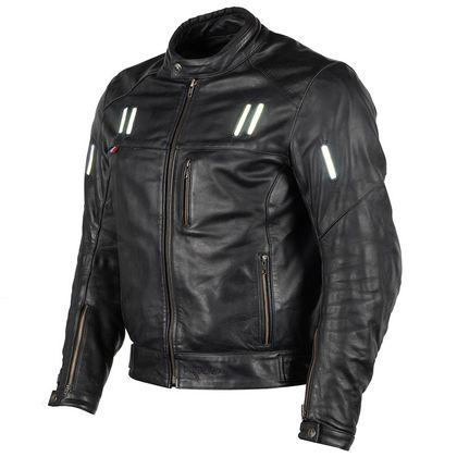 Blouson moto en cuir homme Raylier Original - Noir (tailles au choix)