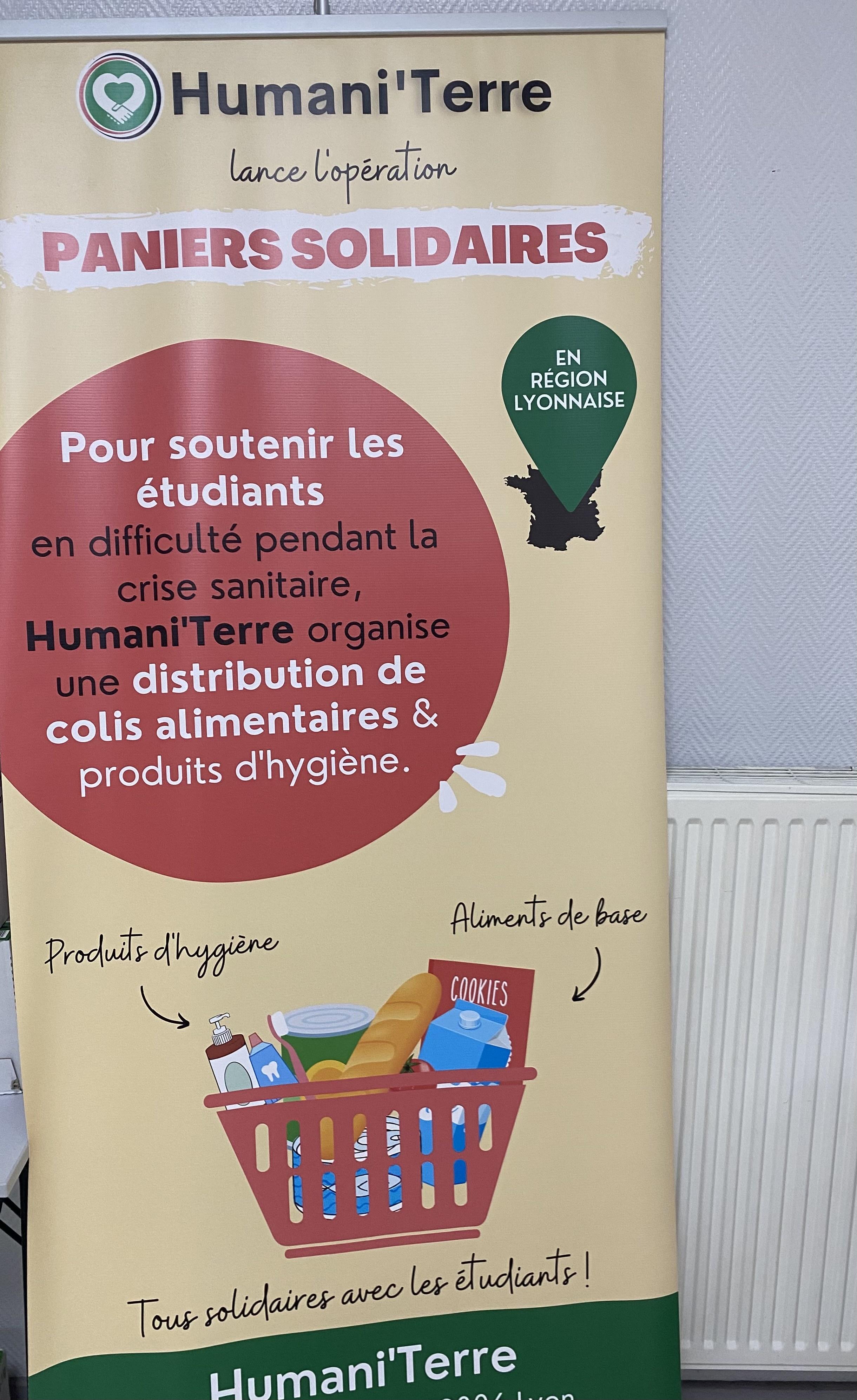 [Etudiants] Distribution de Paniers alimentaire et hygièniques gratuit - Lyon (69)