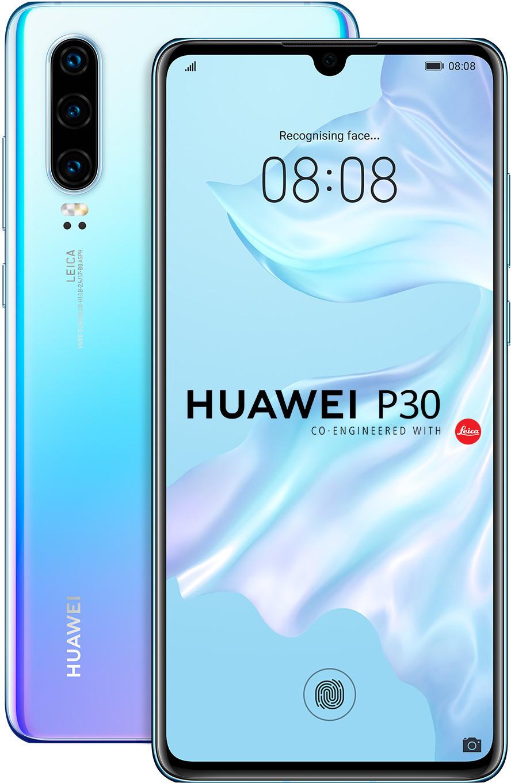"""Smartphone 6.1"""" Huawei P30 (full HD+, Kirin 980, 6 Go de RAM, 128 Go, bleu nacré) + balance connectée Huawei Scale 3"""