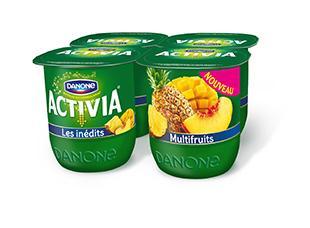 Pack de 4 Yaourts Danone Activia Fruit Multifruits (via BDR)