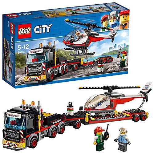 Jouet Lego City Le transporteur d'hélicoptère - 60183