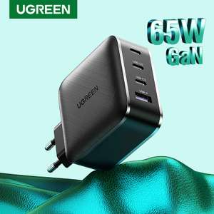 Chargeur Ugreen GaN (65W) - 3 Type-C + 1 USB-A + Cable USB-C 100w