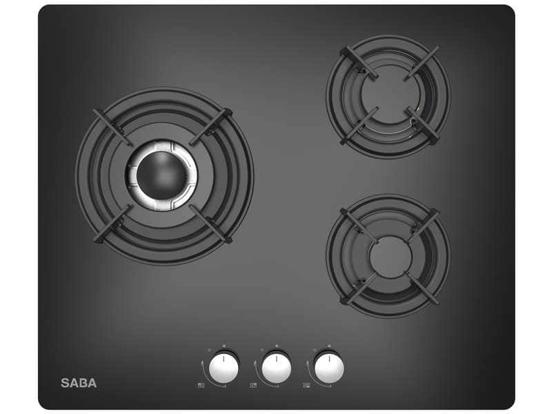 Table de cuisson gaz Saba TGV60N3F/C - 3 foyers