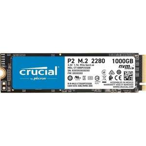 SSD interne M.2 NVMe Crucial P2 (TLC 3D) - 1To (CT1000P2SSD8)