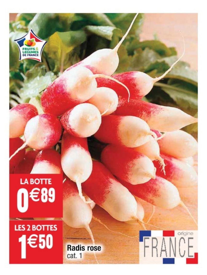 Lot de 2 bottes de radis rose - catégorie 1, origine France