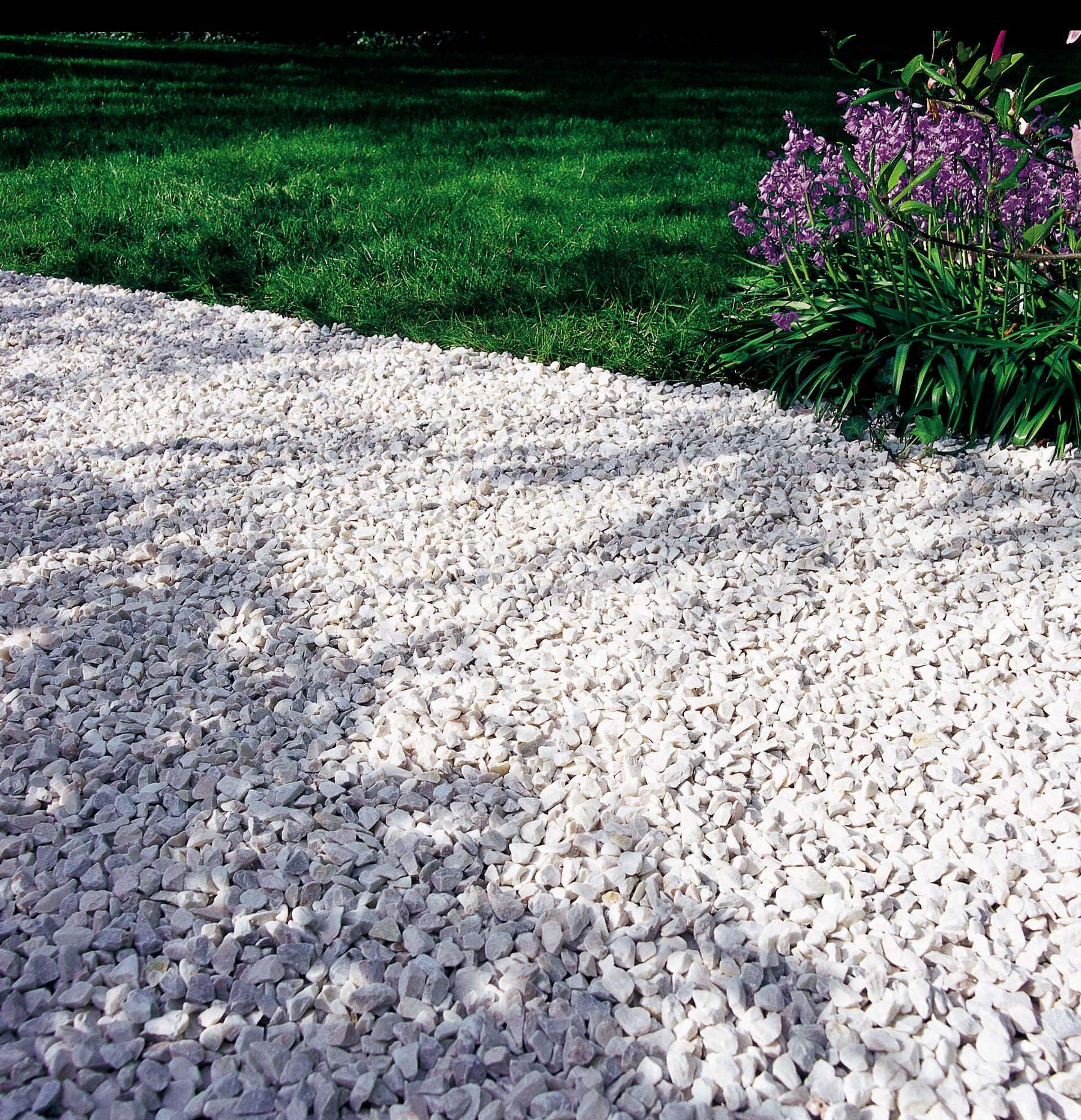 Graviers marbre blanc 8/16mm - 35 kg