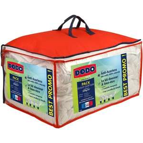 Pack Dodo Douce Quiétude - couette tempérée (anti-acariens, 300g/m², 140x200 cm) + oreiller