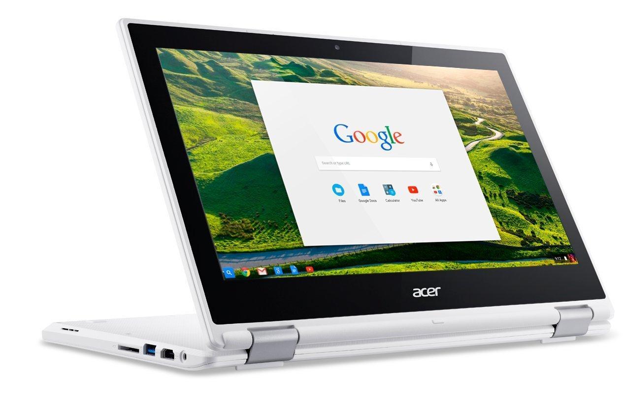 "Ordinateur 2-en-1 11"" Acer Chromebook CB5-132T Blanc - Intel Celeron N3150 1.6 Ghz, RAM  4 Go, SSD 32 Go, Chrome OS"
