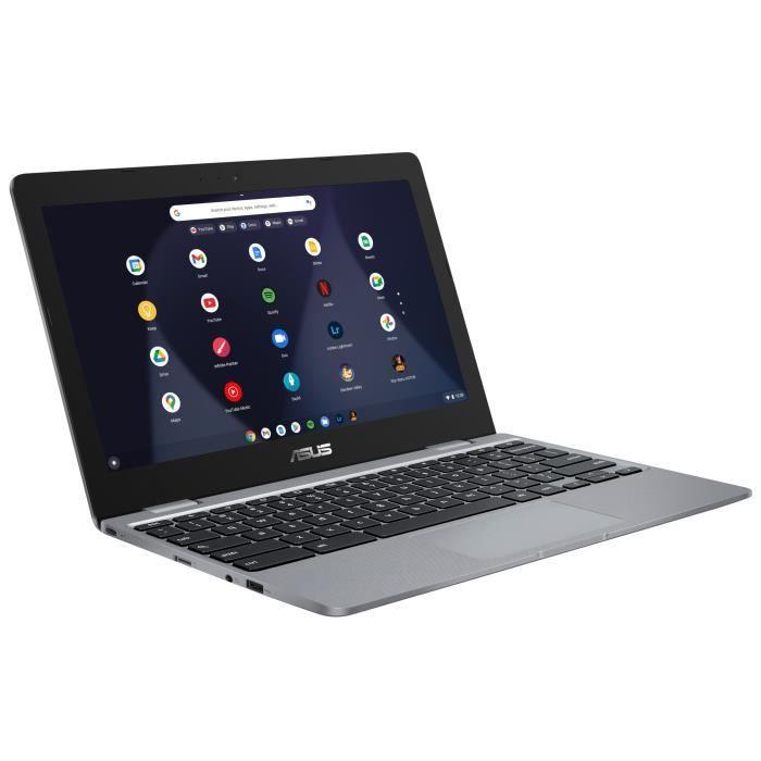 "PC Portable 11.6"" Asus Chromebook C223NA-GJ0010 - HD, Celeron N3350, RAM 4Go, Stockage 32Go eMMC, Google Chrome OS, AZERTY"