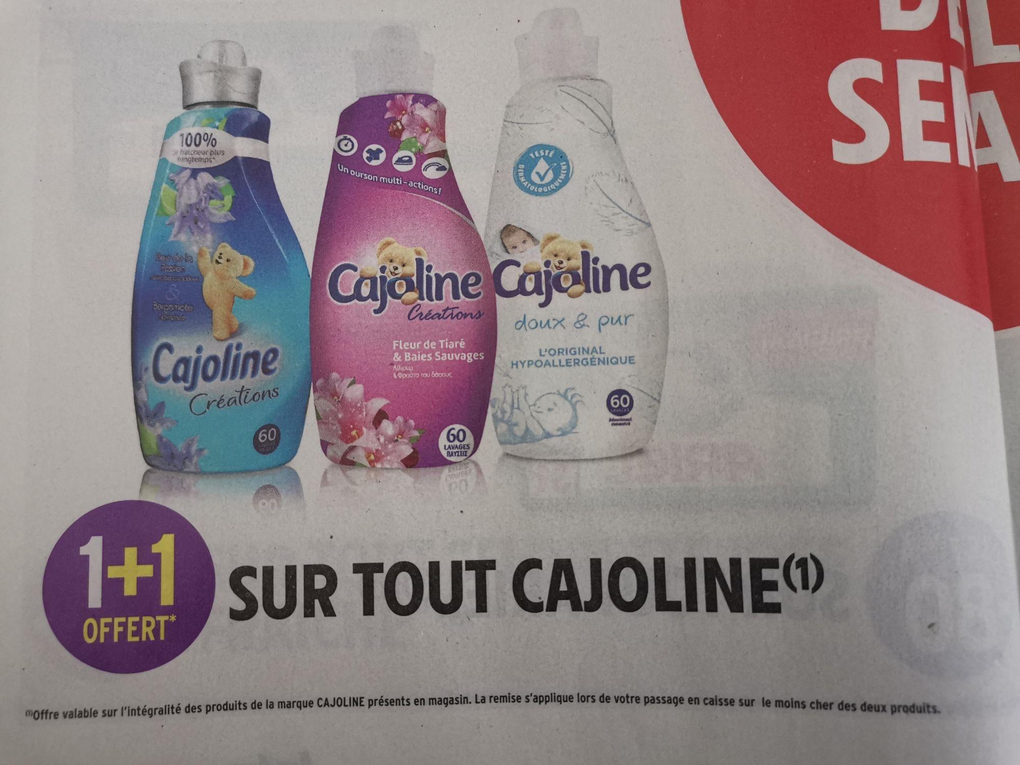 1 produit Cajoline offert pour un acheté (le moins cher des deux)