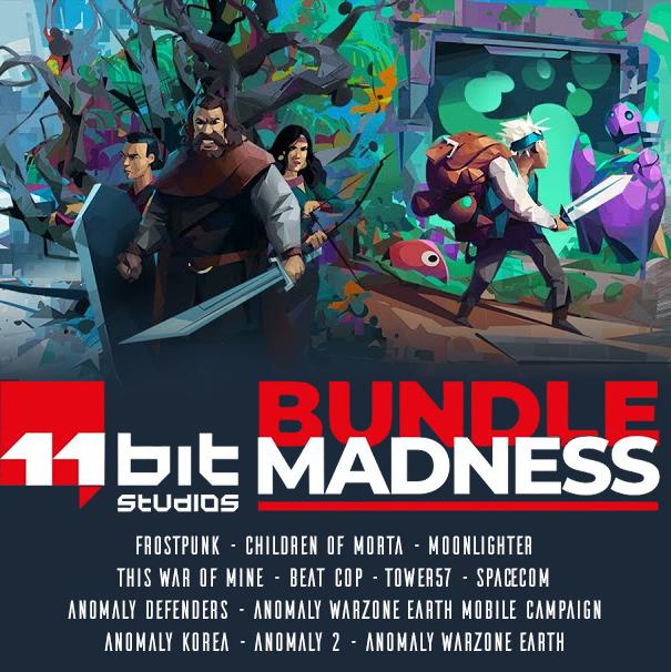 Bundle 11 Bits: 12 Jeux PC dont Frostpunk, Children of Morta, This War of Mine, Moonlighter, Beat Cop, Anomaly... (Dématérialsié)