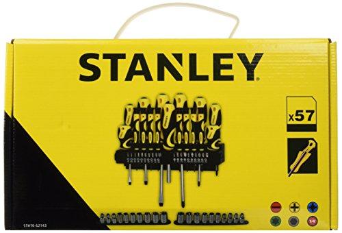 Coffret de vissage Stanley STHT0-62143 - 57 pièces, avec tournevis, porte-embouts et embouts