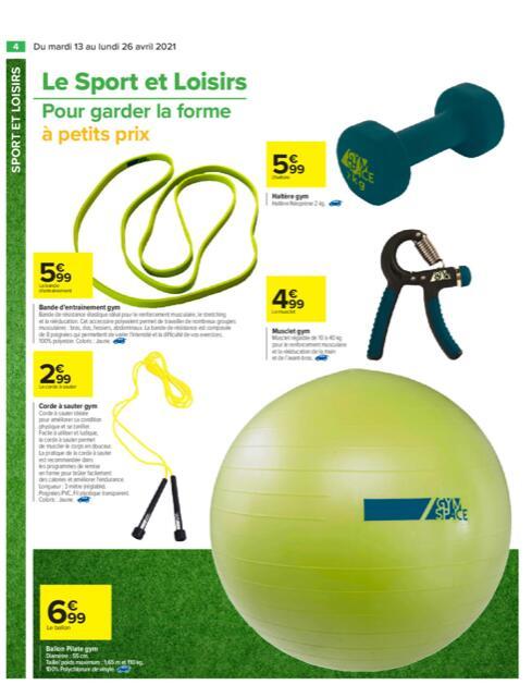 Sélection d'accessoires fitness - Ex : Corde à sauter