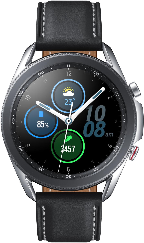 Montre connectée Samsung Galaxy Watch 3 - 45 mm, bracelet en cuir, argent