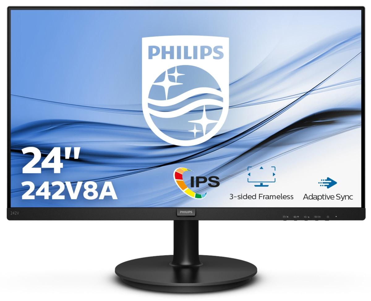 "Ecran PC 23.8"" Philips 242V8A - Full HD, Dalle IPS, 75 Hz, 4 ms, FreeSync"