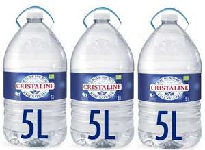 Lot de 3 Bonbonnes d'eau de source naturelle Cristaline - 3 x 5 L