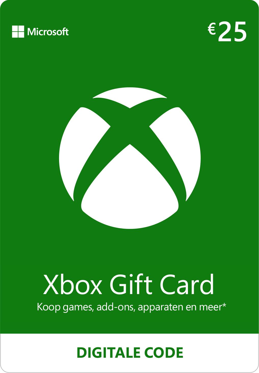 Carte cadeau Xbox - 25€ + Un jeu PC aléatoire offert
