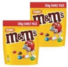 Lot de 2 sachets de M&M's Family Pack - 2 x 550g