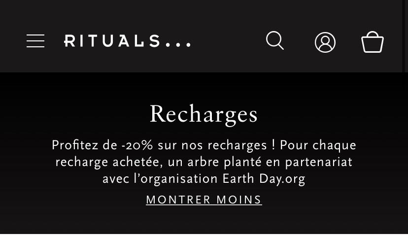 20% de réduction sur les recharges - Rituels.com