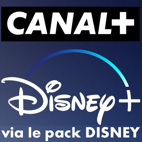 Abonnement mensuel à Canal+ et le pack Disney (Disney+, Nat Geo, ...) TV & Digital pendant 2 ans (Engagement de 2 ans)