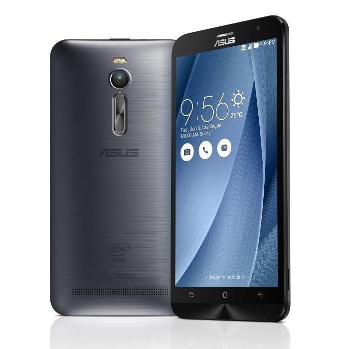 Smartphone Asus ZenFone 2 (ZE551ML) - 64 Go, argent (+ 60€ en bon d'achat)