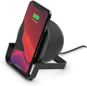 Chargeur à induction Belkin BoostCharge + Enceinte bluetooth intégrée - QuickCharge 10 W, Certification Qi, Noir ou Blanc (via ODR de 3.82€)