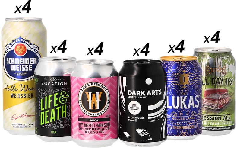 Pack de 24 Canettes de Bières - limité à un pack par personne