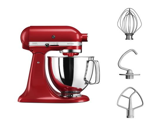 Robot de cuisine Kitchenaid Artisan 5KSM125EER - coloris rouge