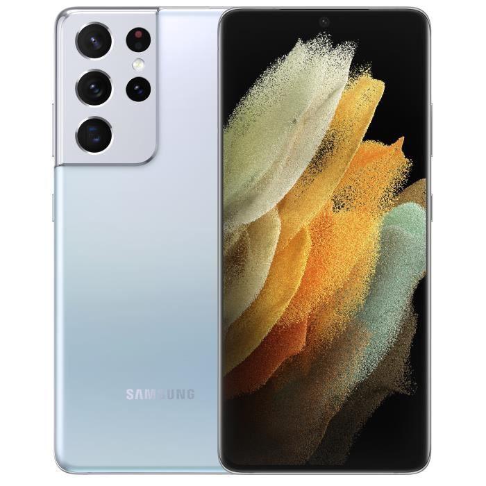 "Smartphone 6.9"" Samsung Galaxy S21 Ultra 5G - Snapdragon 888, 256 Go, 12 Go RAM (+25.50€ en Rakuten Points)"