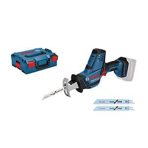 Scie sabre Bosch Professional GSA 18 V-LI C + L-BOXX 136 + 3 Lames (Sans Batterie, ni chargeur)