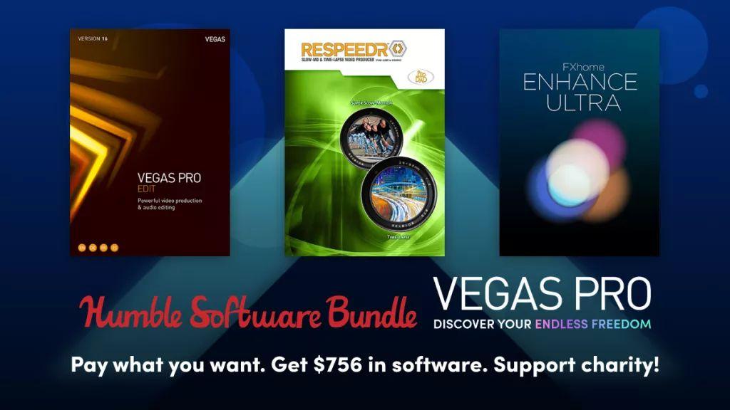 Humble Software Bundle :Sélection de logiciels VEGAS Pro sur PC (Dématérialisé) à partir de 1€