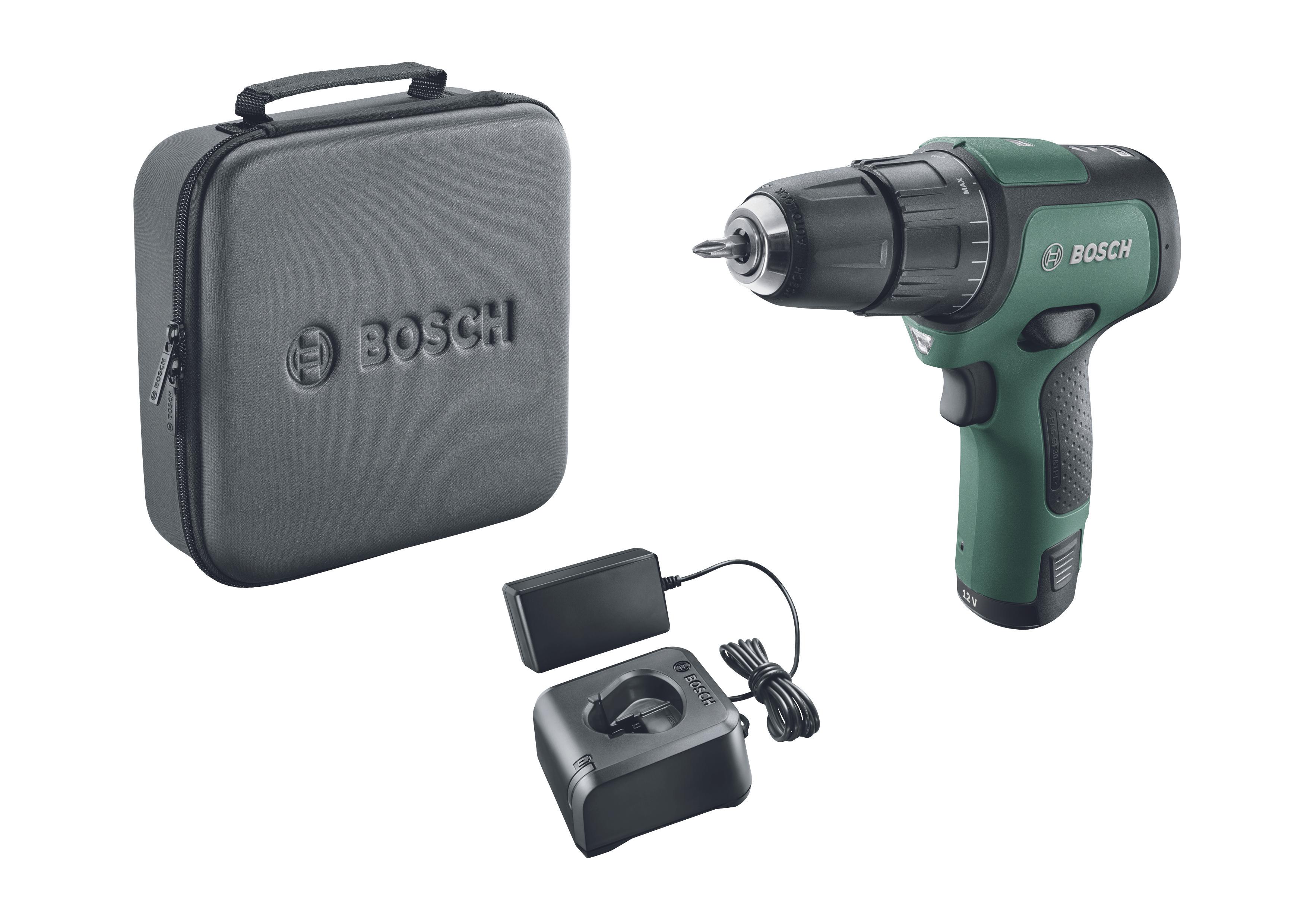 Coffret Perceuse visseuse sans fil Bosch EasyDrill - 12V 2 Ah, 1 batterie + chargeur (Saint-Aunes 34)