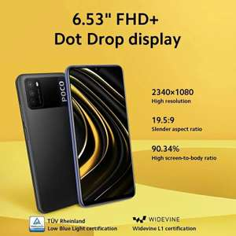 "Smartphone 6.53"" Xiaomi Poco M3 - Full HD+, Snapdragon 662, RAM 4 Go, 64 Go (Entrepôt Espagne - 106,50€ via Code AEKOLMAR2)"