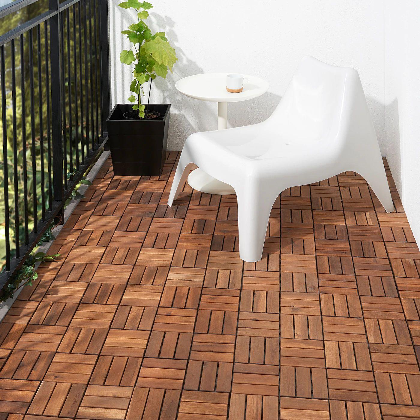 [Ikea Family] Dalle Bois Caillebotis Runnen, teinté brun à 19,99€ le Lot