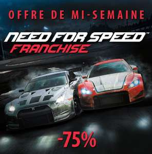 Need for speed : Hot Pursuit (et autres titres de la série en promo)