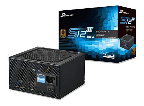 Alimentation PC non-modulaire Seasonic S12III 650w 80+ Bronze