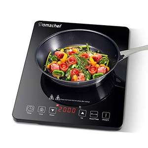 Plaque à induction portable Amzchef - 10 niveaux de puissance, 2000 W (vendeur tiers)
