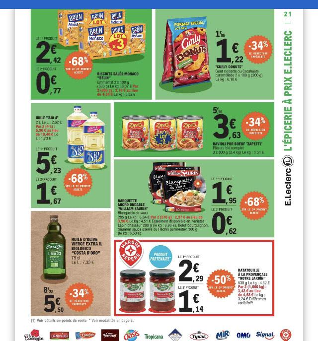 Lot de 6 paquets de biscuits apéritifs Belin Monaco Emmental - 2x3 paquets