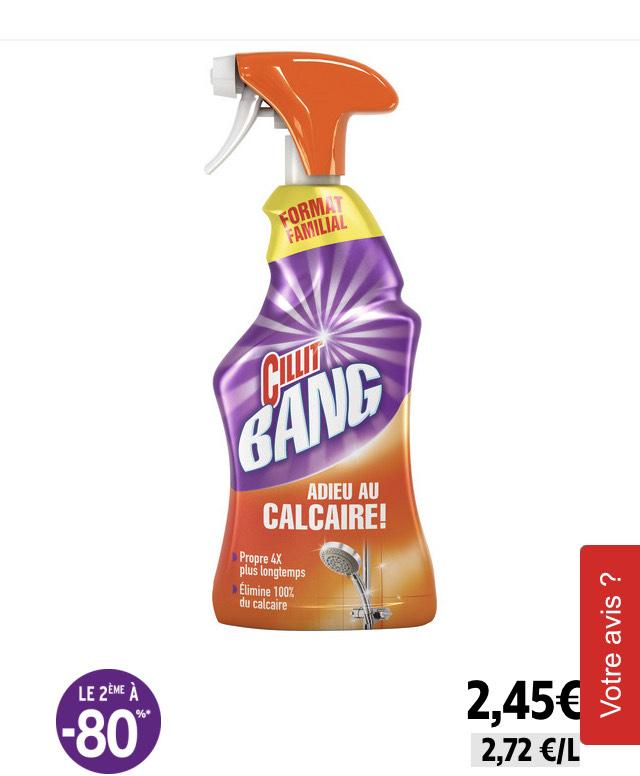Lot de 2 produits nettoyant Cillit Bang - différents types