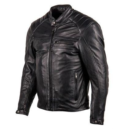Blouson de moto Helstons Master K Rag - en cuir, noir (du S au 4XL)