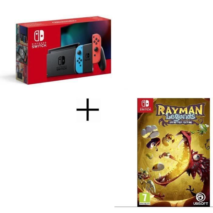 Console Nintendo Switch (2019) + Jeu Rayman Legends