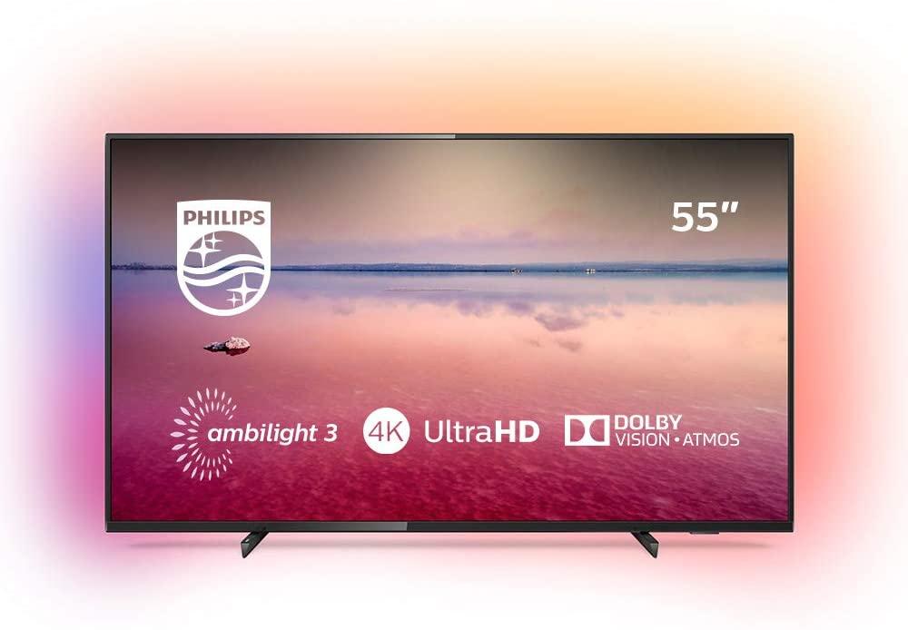 """TV 55"""" Philips 55PUS6704/12 (4K UHD, LED, Smart TV, Ambilight 3 côtés) - Lyon / Saint-Clément-de-Rivière / Salaise-sur-Sanne (34/38/69)"""